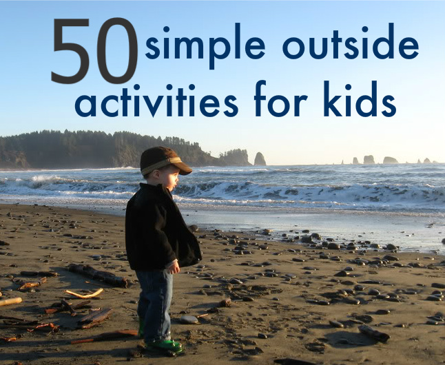 50 Simple Outdoor Activities For Kids on 50 Spring Crafts Activities