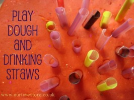Playdough + Drinking Straws = Simple Fun