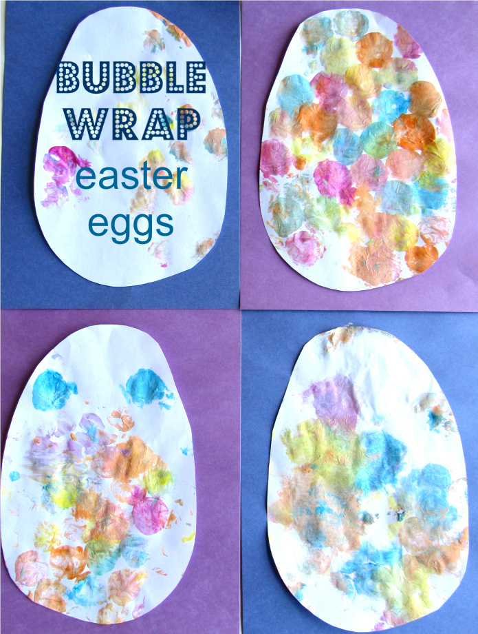 bubble wrap printed easter eggs