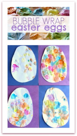 Easy Easter Egg Craft – Bubble Wrap Eggs