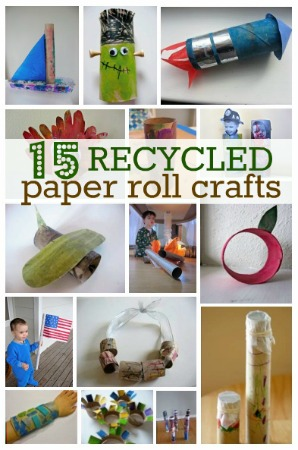 Craft Ideas  Toilet Paper Rolls on 15 Recycled Paper Roll Crafts For Earth Day   No Time For Flash Cards