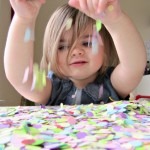 Confetti Easter Egg craft for toddlers