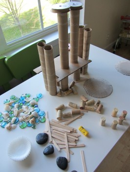 Tabletop loose parts creative activity for kids