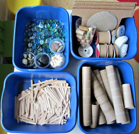 Tabletop loose parts creative activity for kids no time for flash