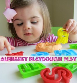 Alphabet Playdough  – Alphabet For Starters