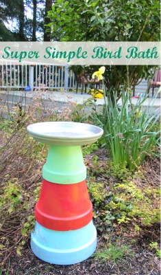 DIY bird bath activity for kids