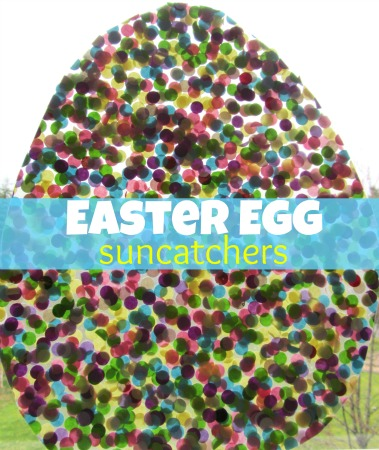 Easter craft for kids - Easter Egg Suncatcher
