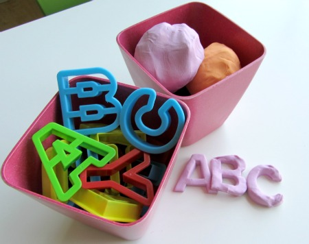 Alphabet playdough alphabet for starters no time for for Playdough letter cutters