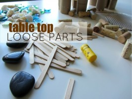 table top loose parts