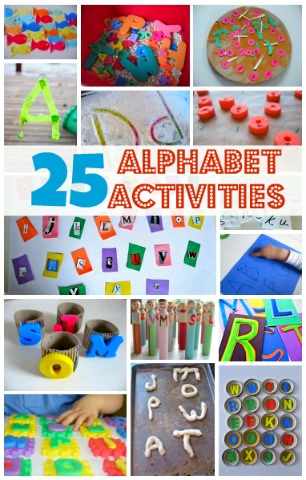 letter crafts for kids