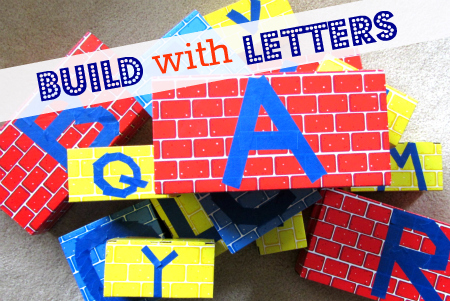 jumbo cardboard blocks - Build with Letters