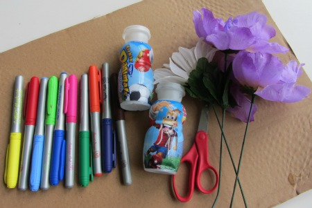 kids craft vase