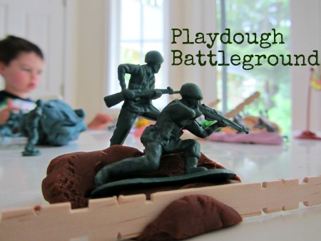 Playdough Battleground Memorial Day Activity for Kids