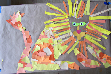 Scrap Paper Lion Craft No Time For Flash Cards