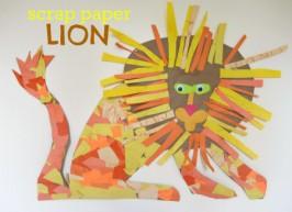 Scrap Paper Lion Craft