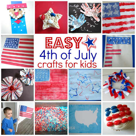 craft ideas for 4th of july easy 4th of july crafts for no time for flash cards 7540