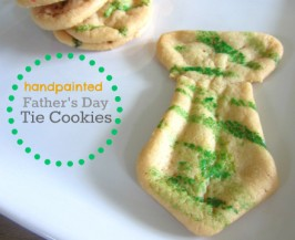 Easy Father's Day Tie Cookies