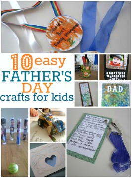 easy Father's day crafts for kids