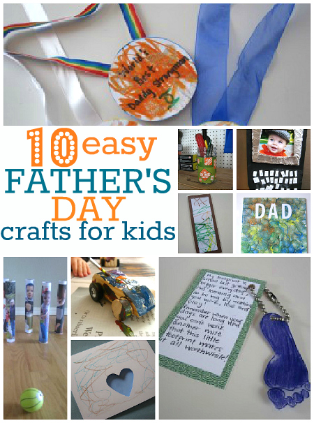 10 Easy Father S Day Crafts No Time For Flash Cards
