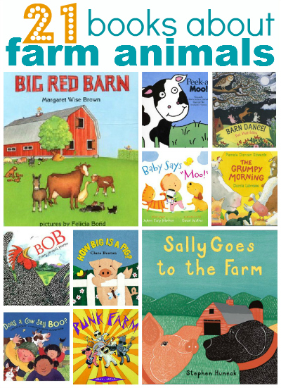 21 books about farm animals