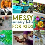 Messy Sensory Tubs For Kids
