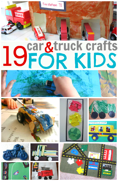 19 Car & Truck Crafts For Kids - No Time For Flash Cards
