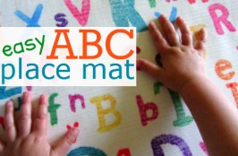 easy abc place mat craft