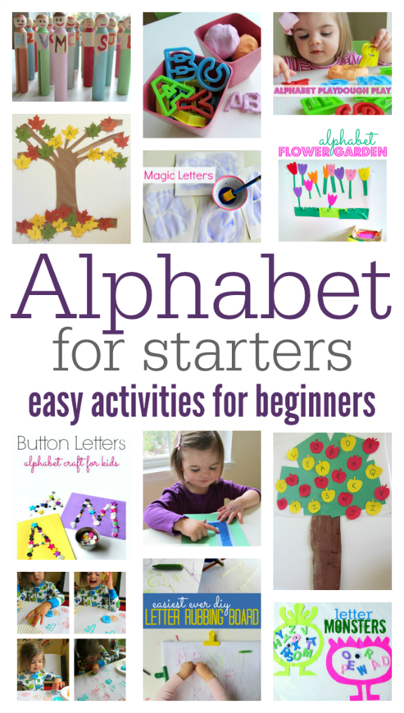 Alphabet For Starters Easy Alphabet Activities For Beginners No