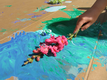 painting with nature simple summer crafts no time for flash cards