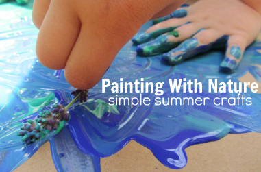 http://www.notimeforflashcards.com/2012/07/painting-with-nature-simple-summer-crafts.html
