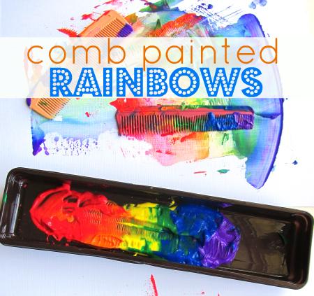 Rainbow Painting Simple Summer Crafts Kids Craft
