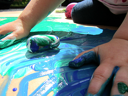 simple super crafts painting with nature
