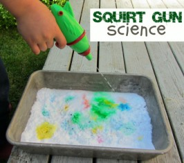 Squirt Gun Volcanoes – Science Experiment For Kids