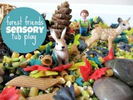 Forest Friends Sensory Tub