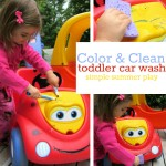 Color & Clean Car Wash Play For Toddlers