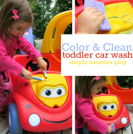 color clean car wash play for toddlers