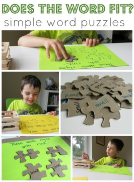 Does The Word Fit ? Simple Word Puzzles For Kids