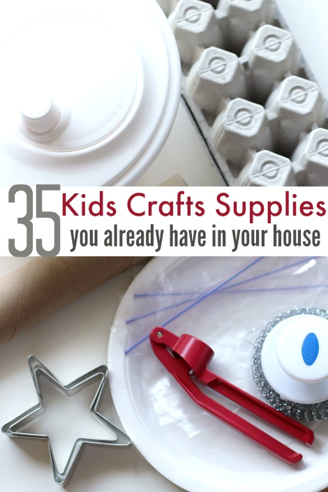 craft supplies for kids you alrady have at home