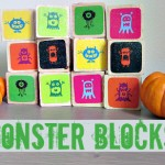 Monster Blocks & Memory Game For Halloween