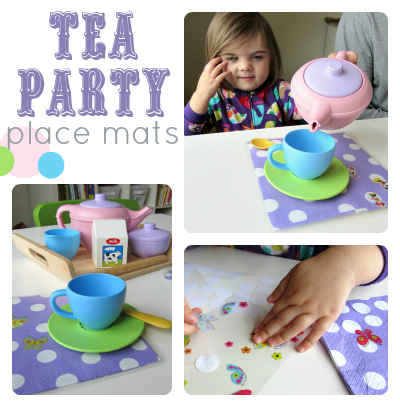 tea party pretend play and place mat craft for kids