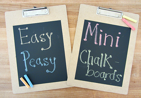 Make Your Own Travel Sized Chalkboard for kids