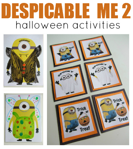 despicable me 2 halloween fun for kids - Halloween Printable Crafts For Kids 2