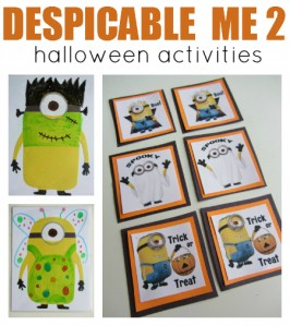Halloween Despicable Me 2 cover text