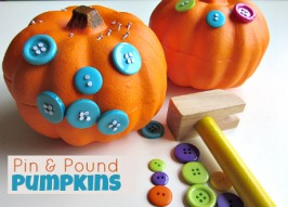 Pin & Pound Pumpkins – Easy Halloween Craft
