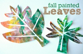 Easy Fall Painted Leaves