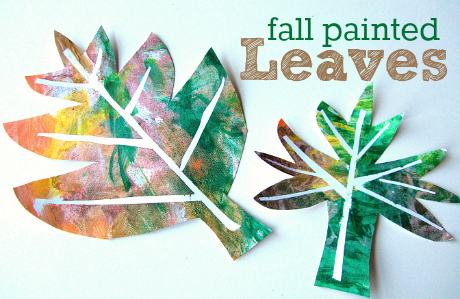 Easy Fall Painted Leaves Craft