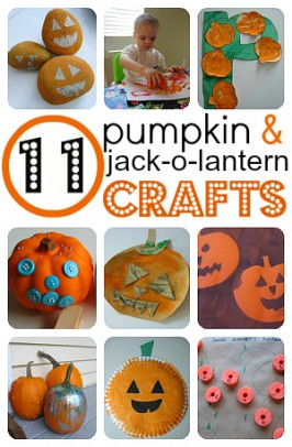 Easy Pumpkin & Jack-O-Lantern Crafts