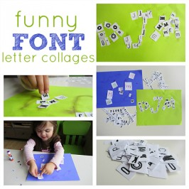 Funny Font Collage – Letter Recognition