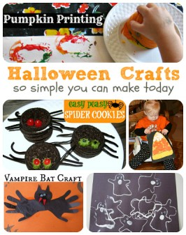 Last Minute Halloween Crafts