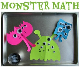 Monster Math Tray – Learning After School